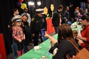 Cincinnati Police CET TV PNC Bank Daniel the Tiger books face painting