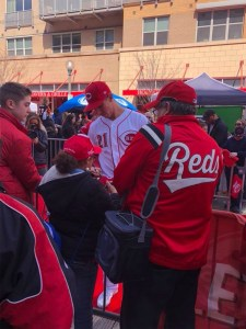 Cincinnati Reds Opening Day 2018 Freedom Way Kids Zone face painting