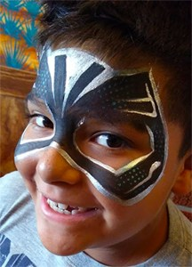 Black Panther Face Painting Cincinnati Ohio Super Hero