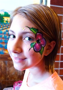 Flowrer face painting Cincinnati Ohio