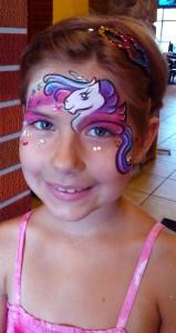 Unicorn Face painting Cincinnati Ohio