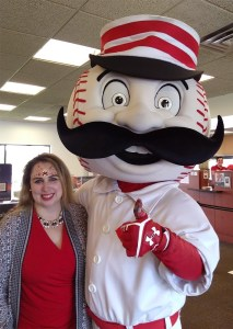 Cincinnati Reds PNC Bank face painting