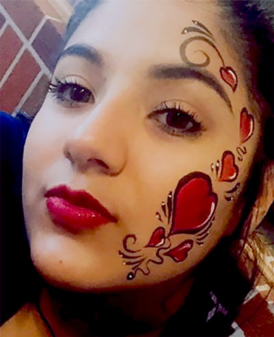 Valentines Face Painting CIncinnati Ohio