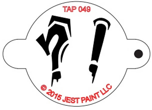 TAP Face Painting Stencil Question Mark and Exclamation