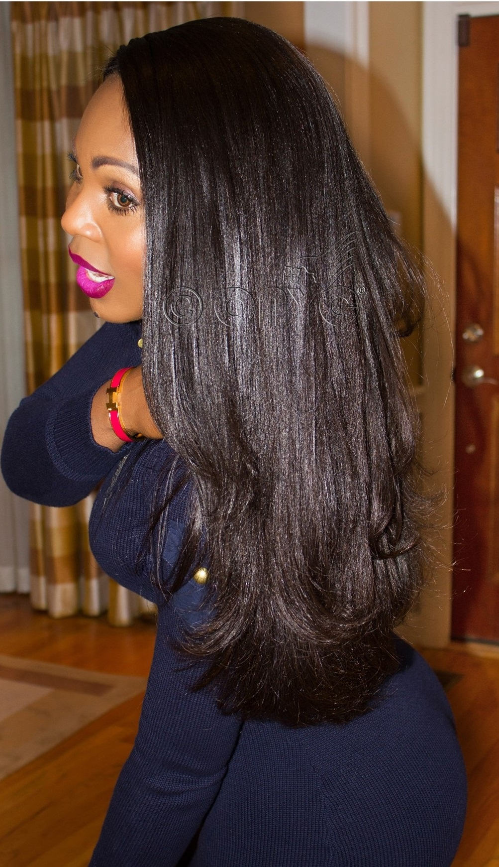 Image result for relaxed hair