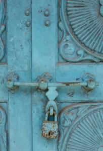 blue, lock, Kochi, Kerala, South India, India, Faces Places and Plates blog