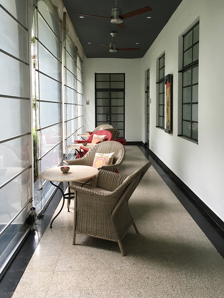 Hotel hallway, Kochi, Fort Kochi, Cochin, Kerala, South India, India, Faces Places and Plates blog