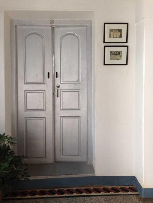 The Bangala, silver door, Karaikudi, Chettinad, Tamil Nadu, South India, India, Faces Places and Plates blog
