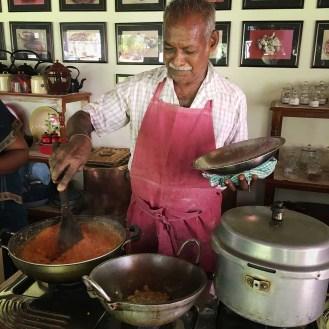 Karrupiah, chef, cooking school, The Bangala, Karaikudi, Tamil Nadu, South India, India, Faces Places and Plates blog