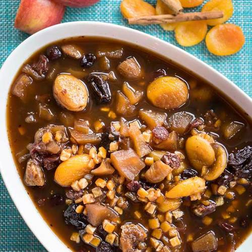 Fruit compote made with fresh apples and a variety of dried fruits. Recipe courtesy of The Bangala, Karaikudi.