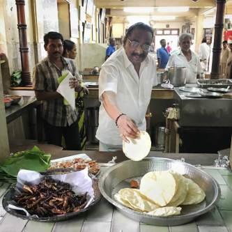 Mr. N. Jenardhanam at his Mamalla Bhavan restaurant.