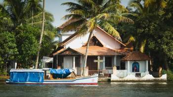 Syrian Christian church in the Kerala Backwaters.