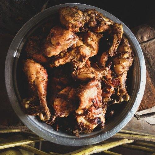 Sheril's legendary barbeque chicken.