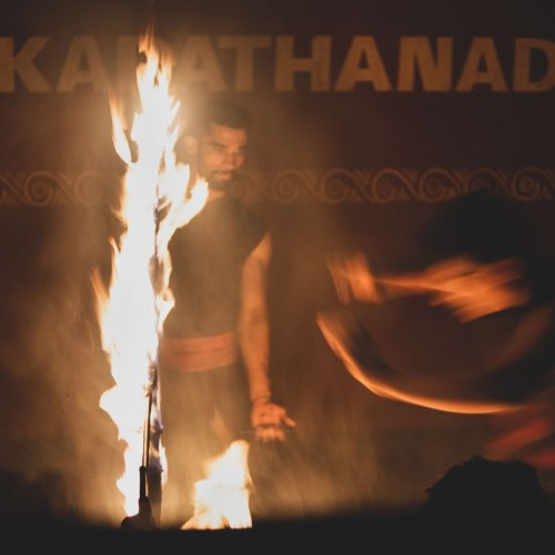 Kadathanadan Kalari martial arts demonstration.