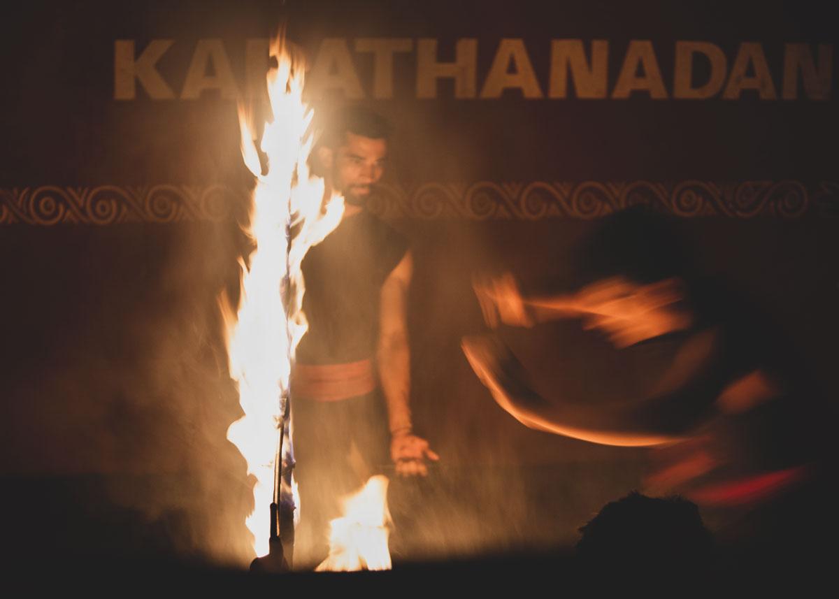 Kadathanadan Kalari martial arts demonstration.