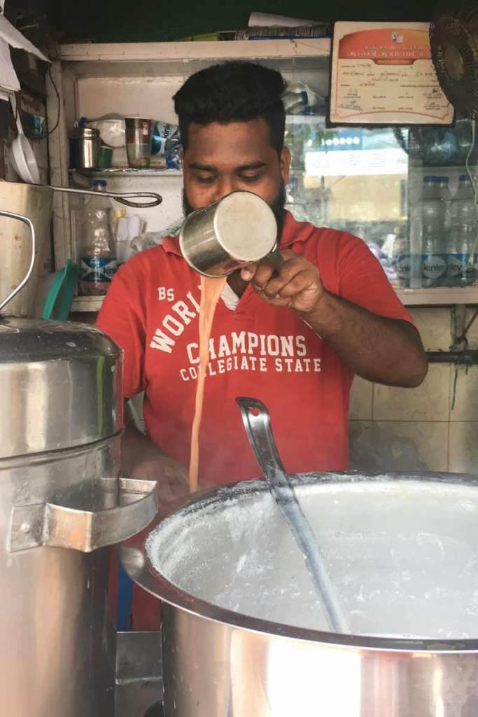 Chai Wallah in the market at Kozhikode