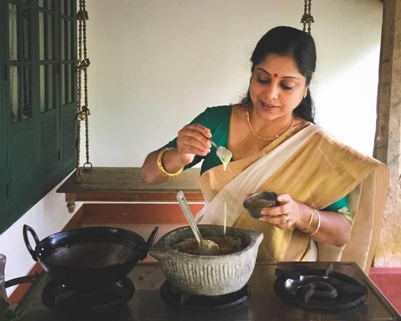 Ranjini-preparing-Royal-Malabar-Kalan