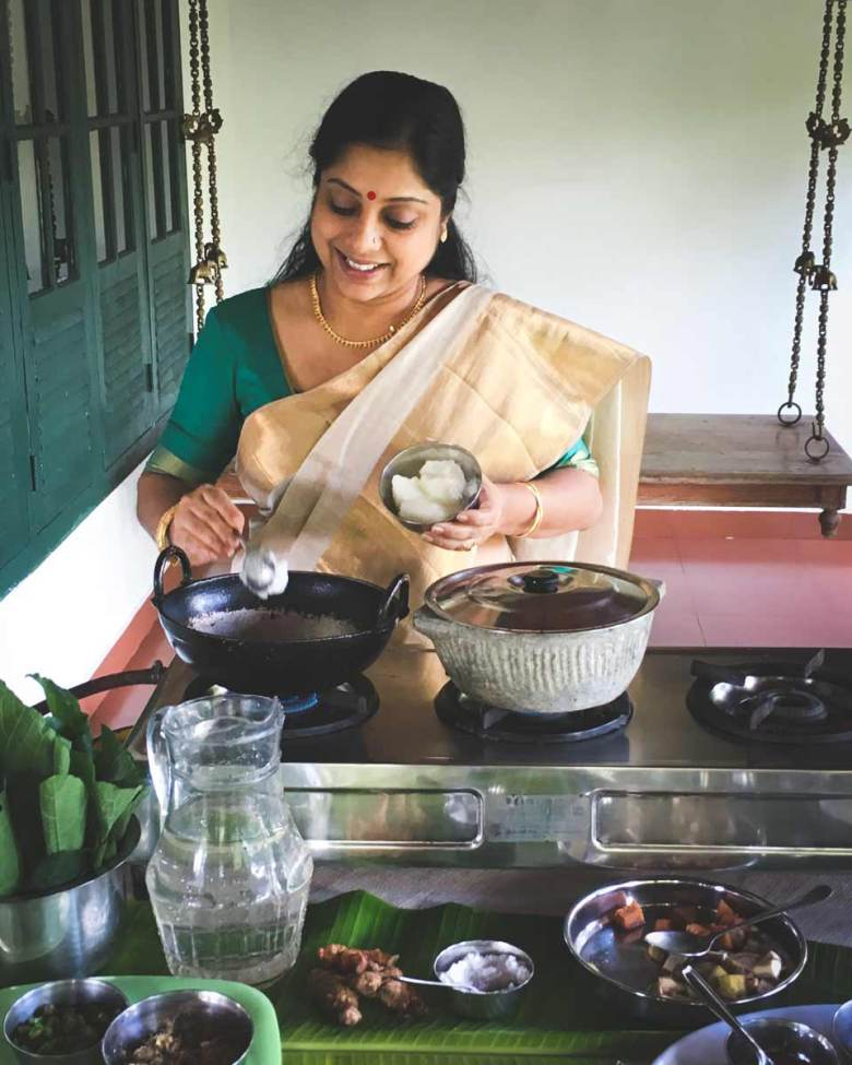 Ranjini Menon cooking demonstration.