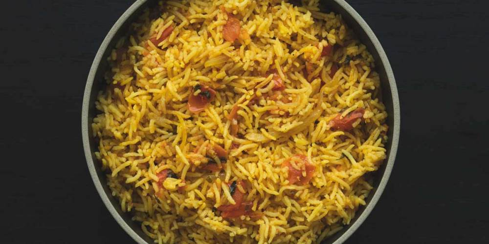 South Indian Nicely Spiced Tomato Rice