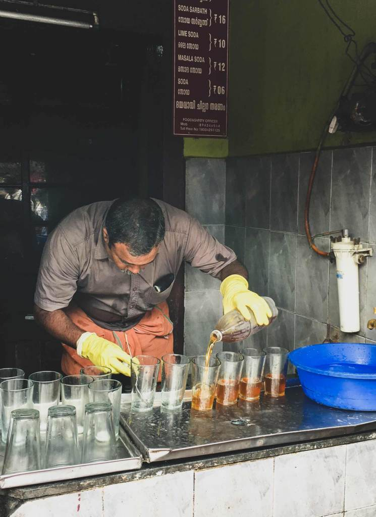 Milk Sarbath Walla Kozhikode mixing drinks