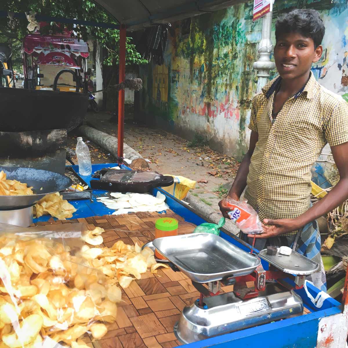 Cassava chips wallah Kochi