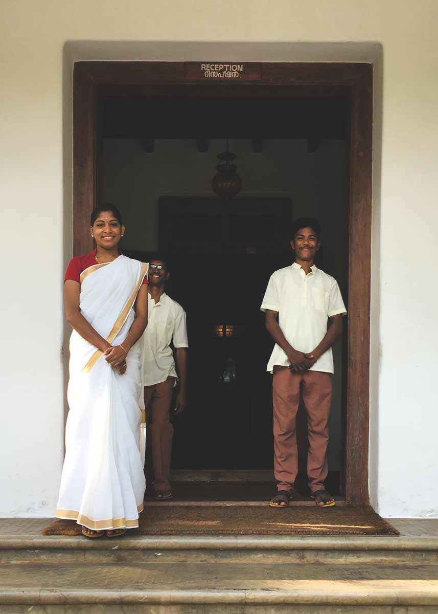 Kalari Kovilakom entrance welcome