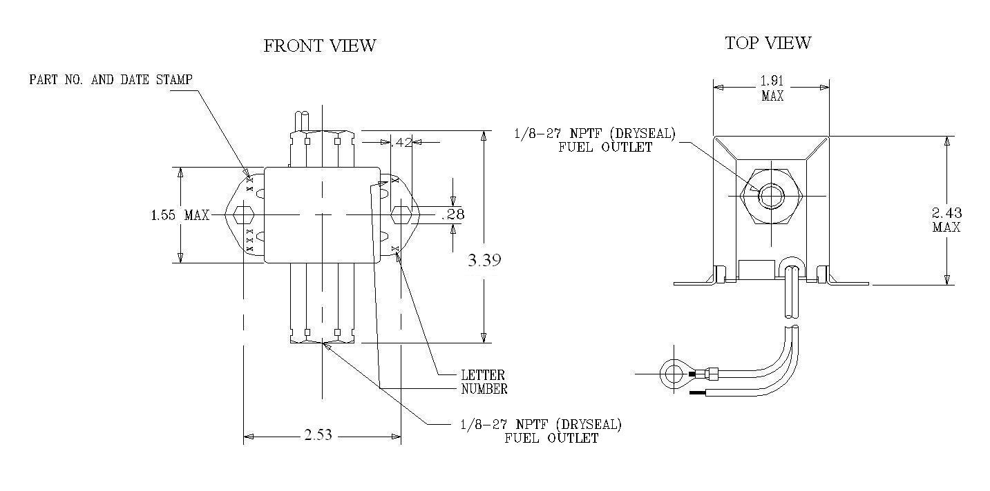 hight resolution of fuel filter fitting 1 8 27 int lift min 60 check valve y positive shut off valve