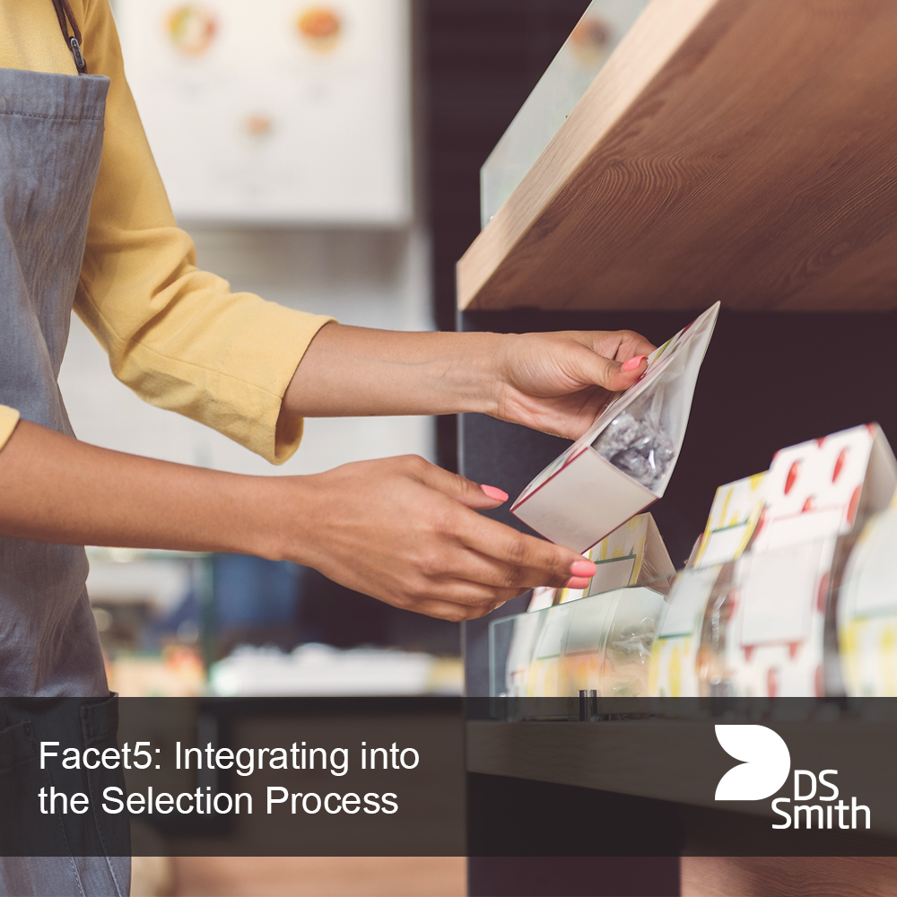 Process of selecting a product from the shelf in a shop.