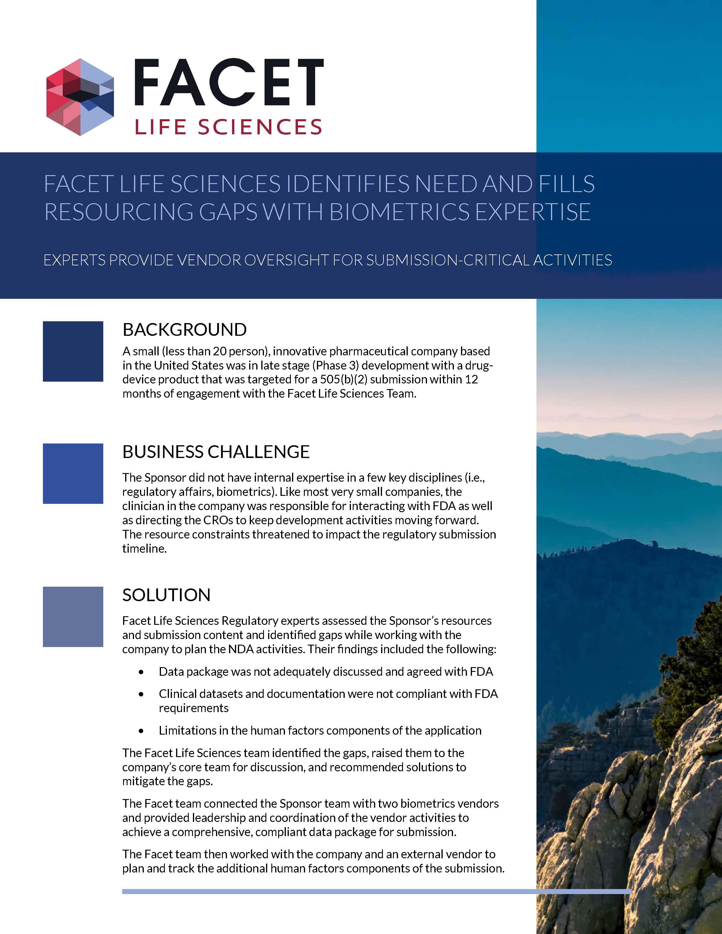 Services Case Studies – Facet Life Sciences