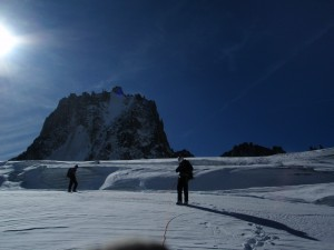 On the Glacier below the North Face of the Tour Ronde
