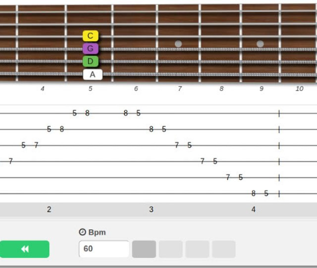 Online Interactive Easy Guitar Tabs