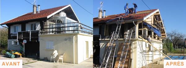 extension maison bois 38
