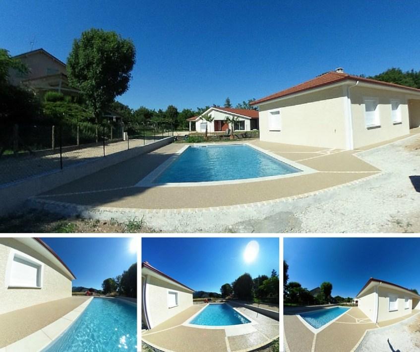 Terrasse  plage de piscine Hydroway Isère Drome- revêtement de sol extérieur drainant et perméable 9