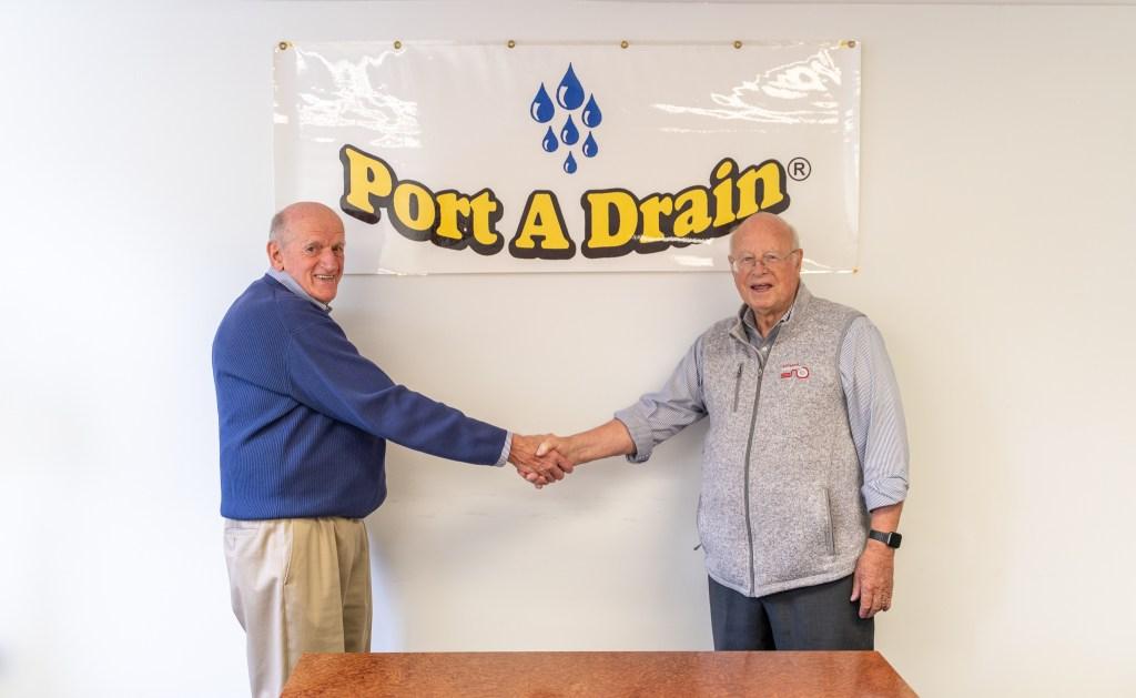 Dave Bergeron & Michael Schaefer Handshake