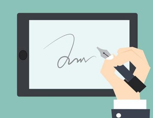 signature électronique en immobilier