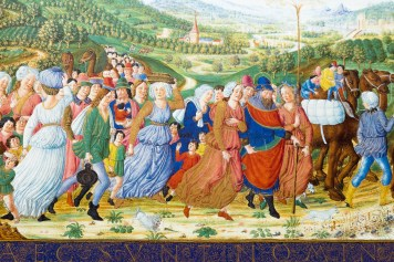 Large-format miniature from the Bible of Federico da Montefeltro