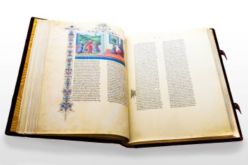 Double-page opening of Bible di Federico da Montefeltro