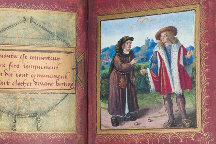 Text and miniature of the Little Book of Love