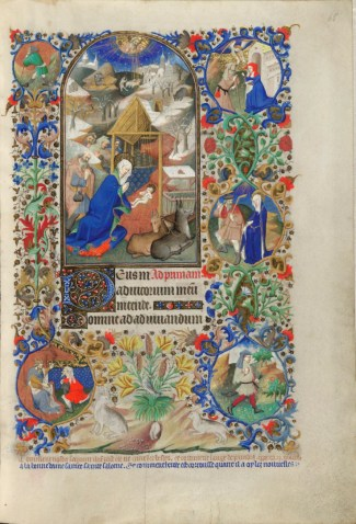 Nativity scene from the Bedford Hours