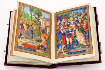 Double-page opening of the Sforza Hours