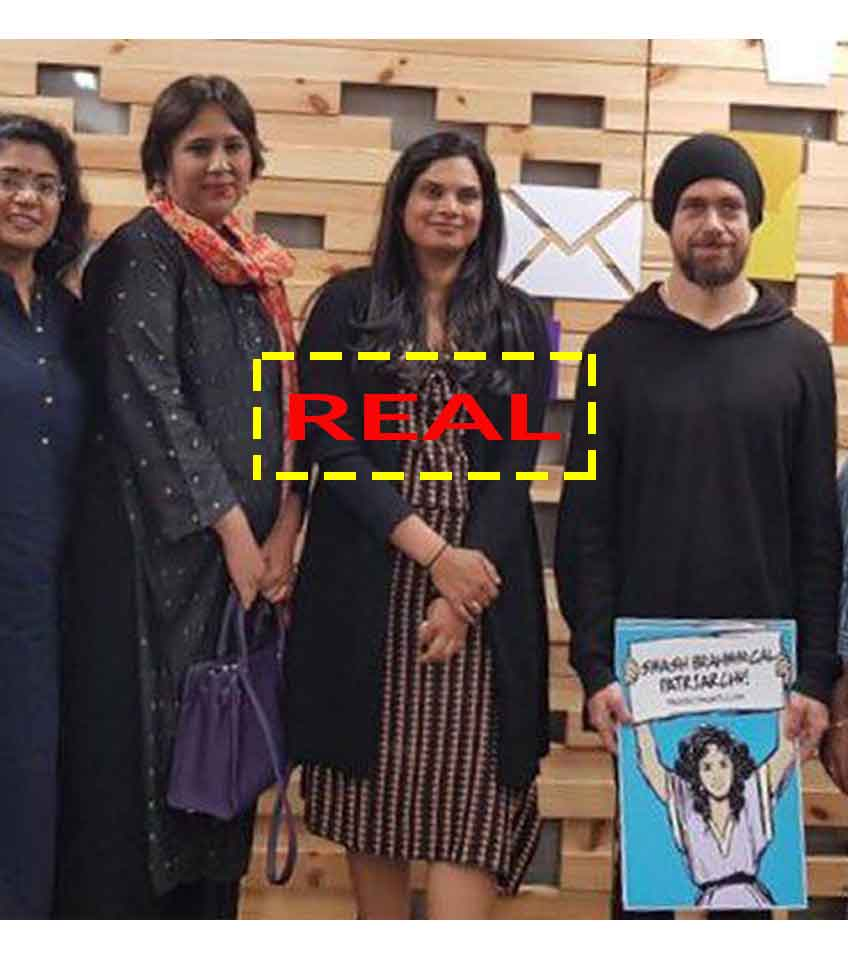 """490e118574b """"FACT ALERT  Picture of CEO Of Twitter Jack Dorsey Holding An Anti-Caste  Poster can be misused"""""""