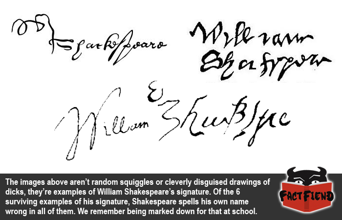 William Shakespeare Literally Couldn't Spell His Own Name