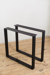 Powder-Coated Steel U-Shape Table Legs - Factor Fabrication