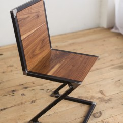 Chair And Steel Office Back Pain Walnut Raw Z Factor Fabrication