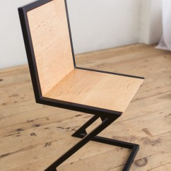 Chair And Steel Black Ghost Maple Powder Coated Z Factor Fabrication