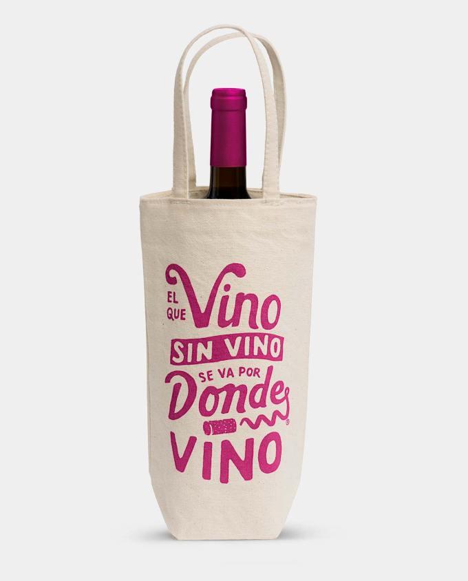 Bolsa botella de vino. Vino sin vino. De factoría Aldo Cruz.