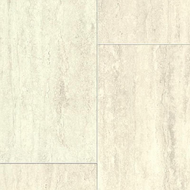 Aquastep Waterproof Laminate Tile 4V Travertin White