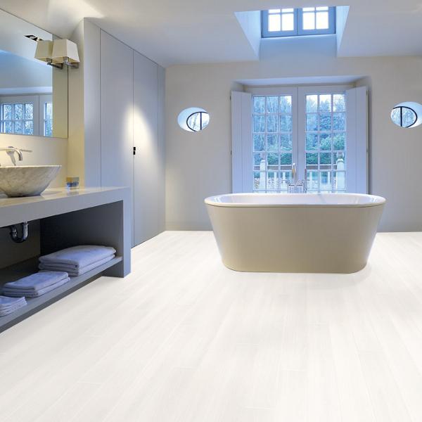 Aquastep Waterproof Laminate Flooring Ultra White V