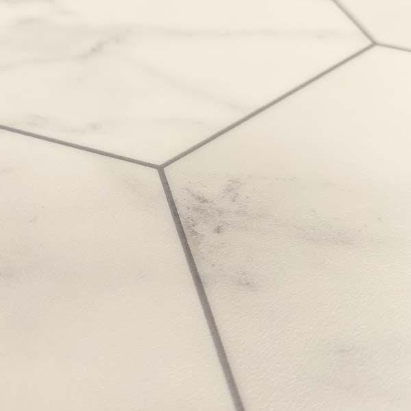 rhinofloor 264 townhouse marble bianco hexagon grey vinyl