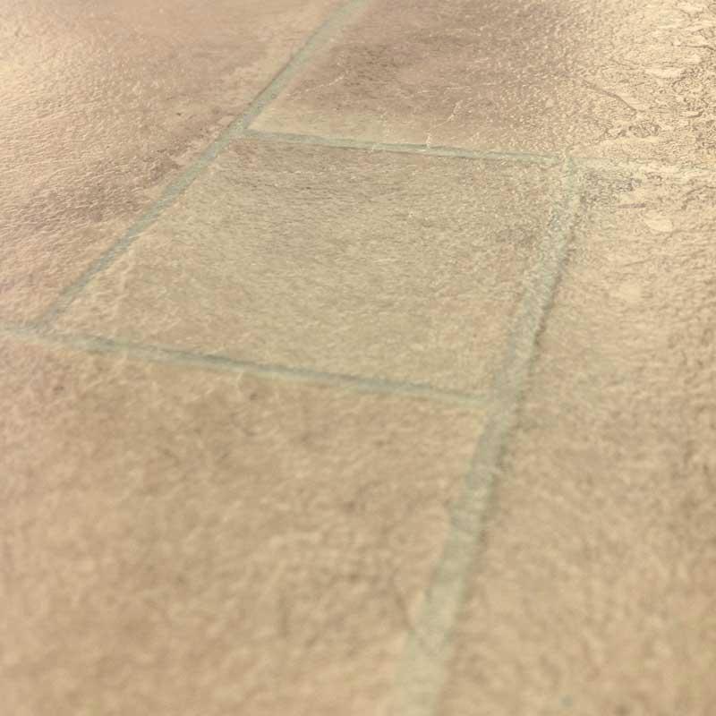 Ecostep Sand Stone Tile 930 Cushioned Vinyl Flooring